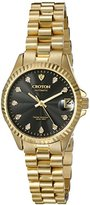 Croton Women's CN207527YLBK HERITAGE Analog Display Quartz Gold Watch