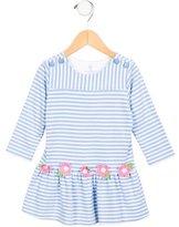 Florence Eiseman Girls' Floral Embellished Striped Dress