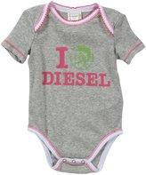 Diesel 'Uaris' Bodysuit (Baby) - Grey-9 Months