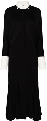 Loewe Cape-Sleeve Long Shirtdress