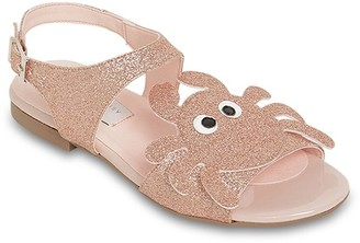 Stella Mccartney Kids Faux Leather Sandals W/ Glitter Crab