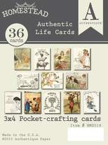 """Authentique Paper Homestead Authentic Life Cards-Pocket Crafting & Journaling 3""""X4"""" Cards"""