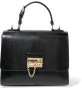 Dolce & Gabbana Monica Medium Lizard-effect Leather Tote - Black