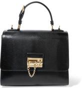Dolce & Gabbana Monica Medium Lizard-effect Leather Tote - one size