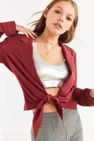 Urban Outfitters Plunging Tie-Front Blazer