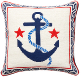 Jonathan Adler Anchor Needlepoint Pillow