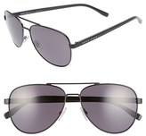 BOSS Men's '0761/s' 60Mm Polarized Aviator Sunglasses - Matte Black