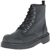 T.U.K. Women's Reptile Pattern Combat Boot