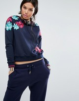 Juicy Couture Floral Placement Sweat