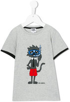 Karl Lagerfeld scuba cat T-shirt - kids - Cotton - 2 yrs