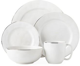 Juliska Puro 5-Piece Platinum-Rim Ceramic Stoneware Place Setting Set