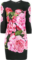 Dolce & Gabbana rose print dress - women - Silk/Spandex/Elastane/Viscose - 40