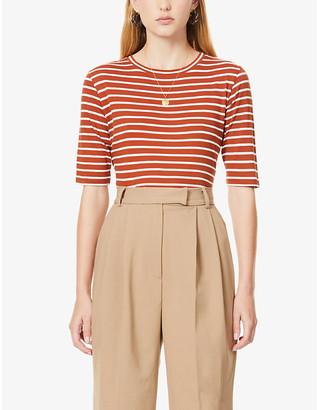 Vince Vintage Stripe short-sleeve cotton T-shirt