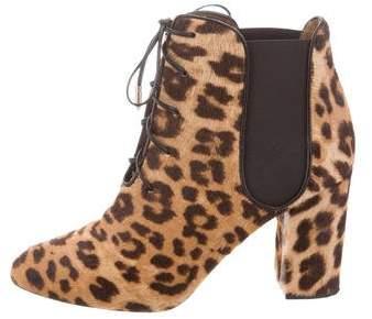 Aquazzura Ponyhair Ankle Boots
