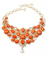 "Amrita Singh crystal South Fork"""" Crystal & Resin Bib Toggle Necklace."
