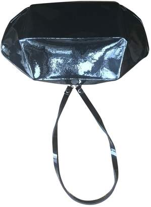 Issey Miyake Black Patent leather Clutch bags
