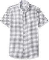 Ben Sherman Men's SS Drawn Plaid PRNT Shirt