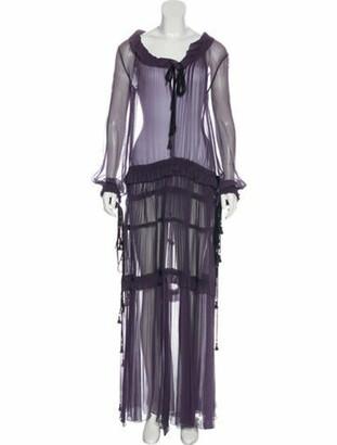 Chloé Silk Maxi Dress Purple