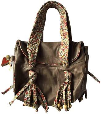 Cacharel Khaki Leather Handbags