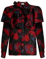 Osman Cinda floral-brocade shirt