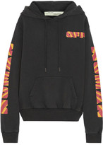 Off-White Rays Over Printed Cotton-jersey Sweatshirt - Black