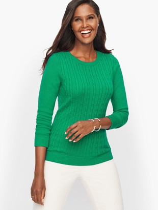 Talbots Supersoft Cableknit Sweater - Solid