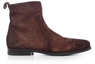 Santoni Boots Rubber Bottom W/zip