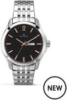 Accurist Black Dial Stainless Steel Bracelet Mens Watch