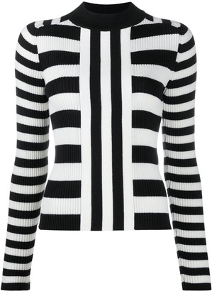 MSGM Striped Knitted Jumper