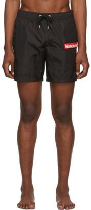 Moncler Black Boxer Bare Swim Shorts