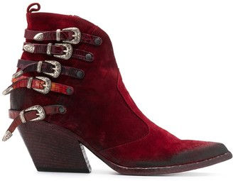 Strategia E2045 buckle ankle boots
