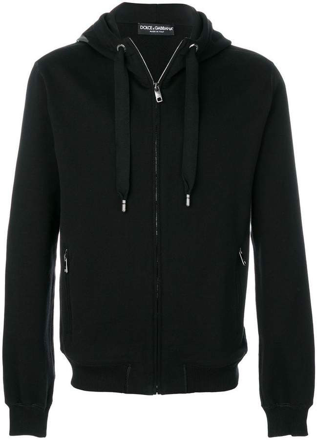 Dolce & Gabbana zipped hoodie with logo patch
