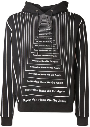 Paco Rabanne All Over Print Cotton Sweatshirt Hoodie