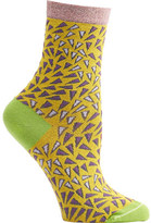 Ozone Women's Wavy Prints Crew Socks (2 Pairs)