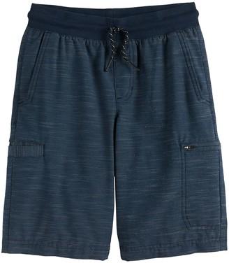 Urban Pipeline Boys 8-20 Knit Waistband Synthetic Cargo Shorts in Regular & Husky