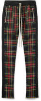 Fear Of God Skinny-Fit Checked Stretch-Wool Drawstring Trousers