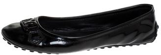 Louis Vuitton Black Patent Leather Oxford Ballet Flats Size 39.5