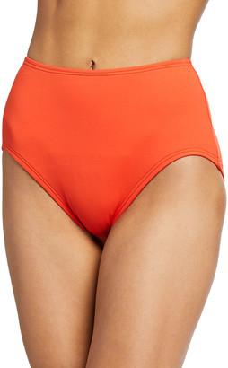 Kate Spade Sid High-Waist Solid Bikini Bottoms
