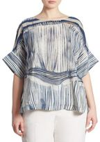Marina Rinaldi, Plus Size Bistrot Printed Silk Dress