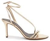 Isabel Marant Axee Snake-effect Metallic-leather Sandals - Womens - Gold