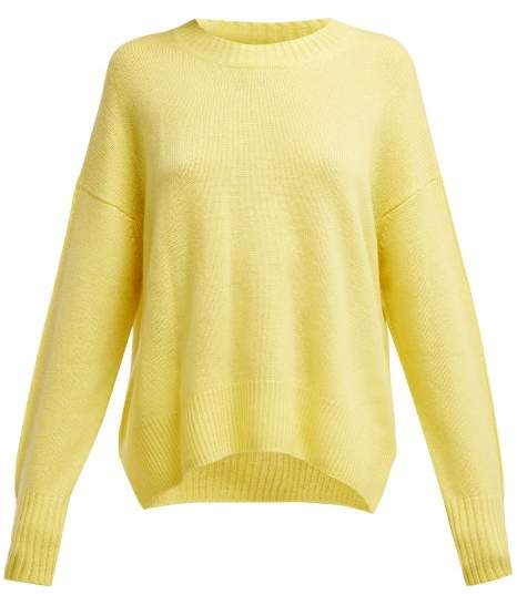 Allude Round Neck Cashmere Sweater - Womens - Yellow