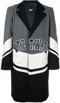 Kokon To Zai logo patch coat - men - Wool/Viscose/Polyester - S