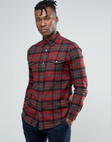 New Look Regular Fit Check Shirt In Red