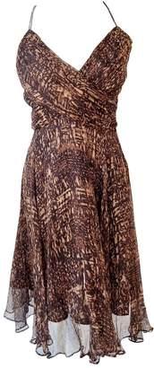 Zara Brown Silk Dresses