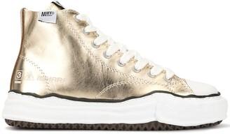 Maison Mihara Yasuhiro Hi-Top Metallic Sneakers