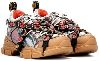 Gucci Flashtrek embellished sneakers