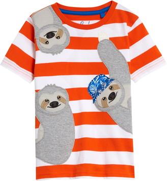 Boden Friendly Animal Applique T-Shirt