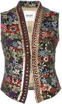 Bazar Deluxe - floral embroidery gilet - women - Silk/Cotton/Acrylic/Polyester - 40