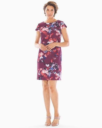 Soma Intimates Adrianna Papell Shift Dress Wine Multi