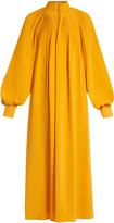 Tibi Pleated silk crepe de Chine maxi dress